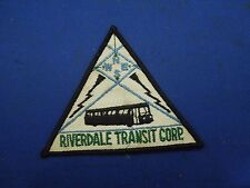 Vintage Riverdale Transit Corp. Compass Bus Embroidered Iron On Patch