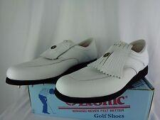 Etonic White Leather Golf Shoes Moc Style Waterproof M5543 Men's 11.5 M NIB