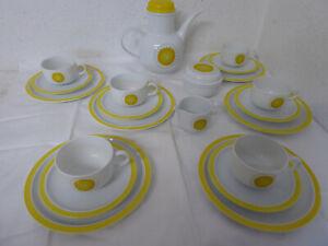 Melitta Kaffeeservice Berlin Dahlem Prilblume gelbe Blume Service 6 Personen