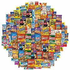 Snack Chest Care Package (120 Count) Variety Snacks Gift Box - College Students,