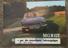 Prospekt Brochure MG B MGB GT ca. 1973 deutsch