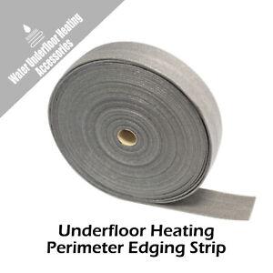 Underfloor Heating Perimeter Screed Edge Strip Length Options 5mm x 100mm