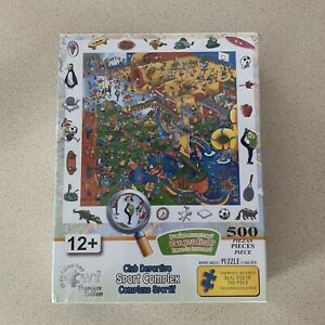 """Wuundentoy Can You Find """"Sport Complex"""" Puzzle 500 Piece NEW SEALED!"""