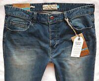BNWT NEXT NEW Men's slim skinny stretch mid vintage wash jeans size 28R 32L 32XL