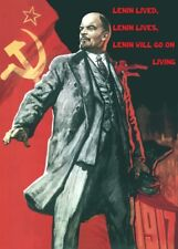 Lenin lived, Lenin Lives. English Translation Russian Anti-Capitalist Poster