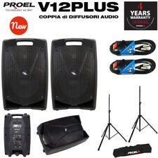 Proel V12PLUS Coppia Cassa Monitor bi-amplificato 600W + Free300Kit+2xBulk250Lu5