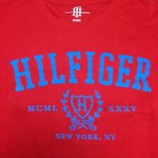Tommy Hilfiger Mens T-shirt Graphic Tee Short Sleeve New York NY XL Red Crewneck