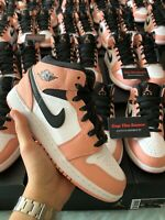 Nike Air Jordan 1 Mid Quartz Pink Blush Pink GS UK 3 4 5 5.5 6 US Brand New
