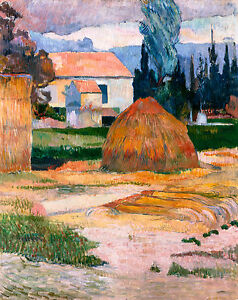 Paul Gauguin - Landscape near Arles, 1888, Art Poster, Museum Canvas Print