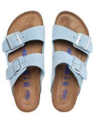 Birkenstock Women's Arizona Narrow Fit Sandals - Light Blue Suede Size UK 5