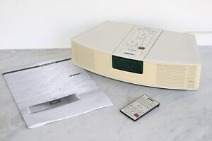 BOSE Wave Radio Alarm Clock White AWR1-1W With Remote Works Great