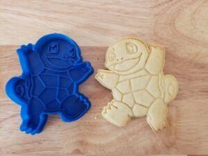 Pokemon Squirtle cookie, fondant, playdough cutter & embosser