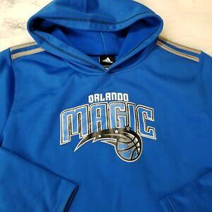 Adidas Youth XL Orlando Magic NBA Sweatshirt Blue Pullover Fleece Long Sleeve