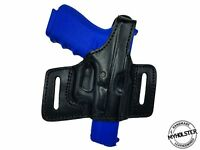 Right Hand Thumb Break Belt Leather Holster Fits GLOCK 19 - Choose your color-