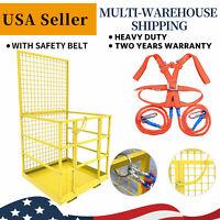 Forklift Cage Work Platform Safety Cage Steel Construction Lift Basket 45x43inch