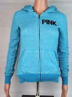 PINK Victoria Secret women's hoodie sweater zipper long sleeve blue size XS/TP