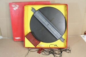 TRIANG R45 2 RAIL ELECTRIC TURNTABLE for GREY STANDARD TRACK BOXED nw