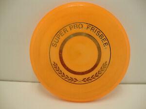 """Orange 1975 Wham-O Super Pro 10"""" Frisbee Professional Flying Disc"""