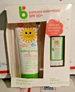 Babyganics SPF 50 Sunscreen Lotion and Stick Suncare Essentials Pack *Free Ship