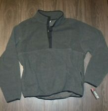 Vtg Nos Ll Bean Polyester Fleece Pullover Large Reg Gray Snap T