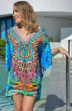 Silk Blend Kaftan Top with Embellishment
