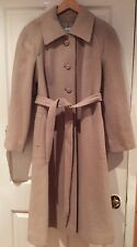 Vintage Windsmoor Pure New Wool Camel Coat Approx Size 14