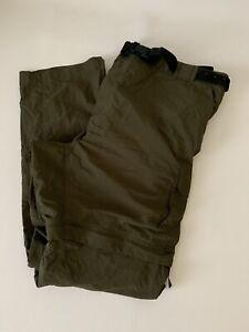 3XL Magellan Water Repellent Fish Gear Leg Pants Mens Army Green Measuring Belt