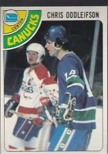 1978-79 TOPPS HOCKEY CHRIS ODDLEIFSON #183 CANUCKS NMMT/MINT *54815