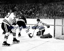Denis DeJordy 1962-70 Blackhawks  vs Bruins  B+W 8x10 B