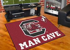 """South Carolina Gamecocks Man Cave 34""""x43"""" All-Star Area Rug Mat"""