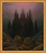 Kreuz und Kathedrale im Gebirge Romantik LW Caspar David Friedrich A1 046