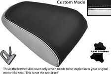 WHITE  & BLACK CUSTOM FITS YAMAHA MT 03 06-13 REAR LEATHER SEAT COVER