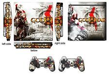 Skin Sticker for PS3 PlayStation 3 Slim and 2 controller skins  GOW Ⅲ Q210