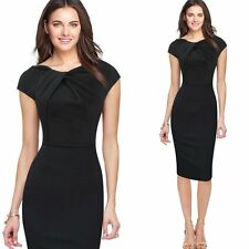 Fashion Women Short Sleeve Bodycon Formal Party Evening Cocktail Midi Slim Dress
