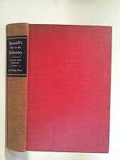 Samuel Johnson Boswell'S Journal Tour To The Hebrides 1936 1st ed hc Pottle