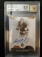 Wayne Gretzky 2018-19 SP Authentic Immortal Ink #03/10 Autographed BGS 8.5...