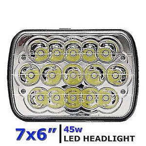 7X6 Crystal Chrome LED HID  Light Bulbs Clear Sealed Beam Headlamp Headlight