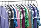 Garment Shoulder Dust Covers Vinyl Suit Clothes Hanger Protector Bags Set of 12