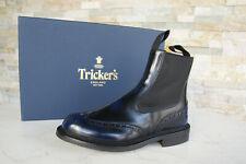 Tricker's Gr 40  7 Stiefeletten Chelsea Boots Schuhe blau NEU ehem UVP 520 €