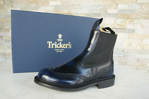 TRICKER'S Size 40 7 Ankle Boots Chelsea Boots Shoes Blue New Previously