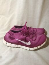 Nike Free Flyknit 5.0 Womens Running Shoes Size 9.5 Purple Pink