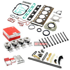 Engine Pistons Seals Timing Overhaul Rebuild Set For VW AUDI 2.0 TSI CBFA CAEB