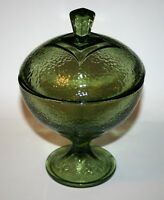 Vintage Hazel Atlas Colony Square Pedestal Covered Candy Dish 2 Available Beauty