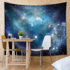 Wall26® - Shades of Blue Galaxies - Fabric Tapestry, Home Decor - 88x104 inches