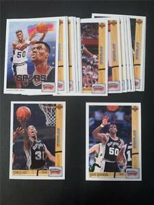 1991/92 Upper Deck San Antonio Spurs Team Set 18 Cards