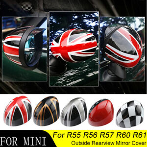 Door Rear View Mirror Covers Stickers For Mini Cooper Countryman R54 R55 R56 R60