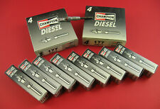 (Set of 8) Genuine Champion Diesel Glow Plugs - Fits GM 6.2L and 6.5L