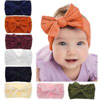 Newborn Toddler Kids Baby Girls Cute Bows Turban Headband Headwear Accessory