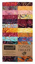 """Timeless Treasures Batik Tonga Treats - Dragonfly - (20) 2.5"""" Jelly Roll Strip"""