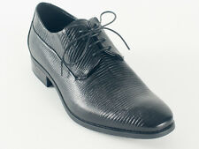 New Baldinini Black Leather Lace-Up Made in Italy Shoes Size 39 US 6